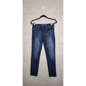 American Eagle Skinny Dark Wash Jeans 8